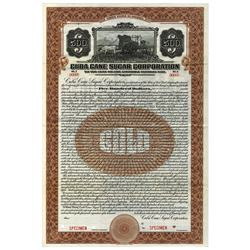 Cuba Cane Sugar Corp. 1920 Specimen Bond.