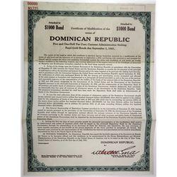 Dominican Republic 1941 Specimen Bond