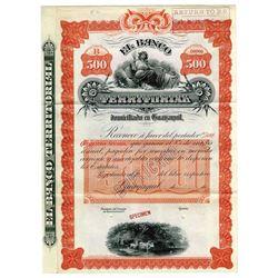 Banco Territorial, ca.1900-1920 Specimen Bond