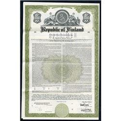 Republic of Finland, 1977 Specimen Bond.
