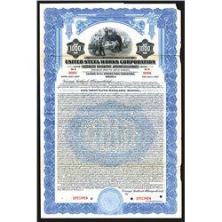 United Steel Works Corporation, 1927 Specimen Bond.