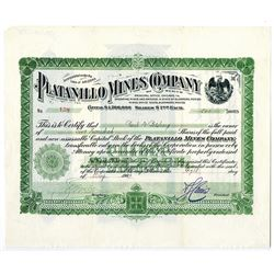 Platanillo Mines Company of Mexico., 1906 Stock Certificate