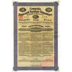 Compania Ferrocarril Nacional de Tehuantepec Republica Mexicana, 1904 I/U Bond