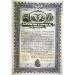 Mexican Central Railway Co. Ltd. 1902 Specimen Bond