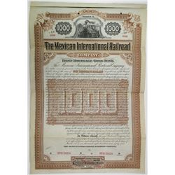 Mexican International Railroad Co., 1884 Specimen Bond Rarity