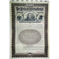 Mexican International Railroad Co. 1897 Specimen Bond Rarity