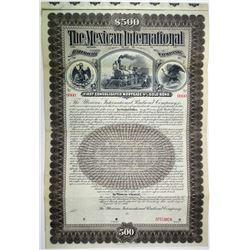 Mexican International Railroad Co. 1897 Specimen Bond Rarity