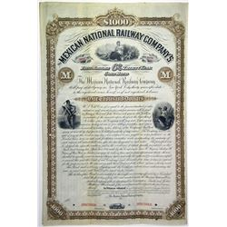 Mexican National Railways Co. 1882 Specimen Bond