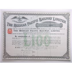 Mexican Pacific Railway Ltd., 1889 Issued Bond