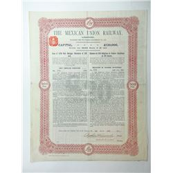 Mexican Union Railway Ltd., 1910 I/U Bond