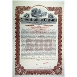 National Railroad Co. of Mexico 1902 Specimen Bond
