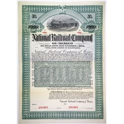 National Railroad Co. of Mexico, 1903 Specimen Bond