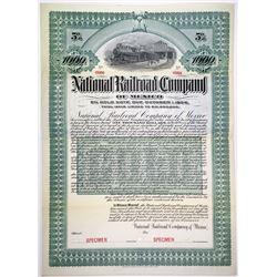 National Railroad Co. of Mexico, 1903 Specimen Bond