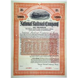 National Railroad Co. of Mexico 1903 (Reissued in 1907) Specimen Bond