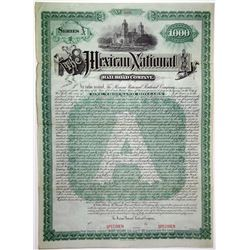 Mexican National Railroad Co. 1887 Specimen Bond Rarity