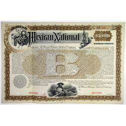 Mexican National Railroad Co. 1887 Specimen Registered Bond Rarity