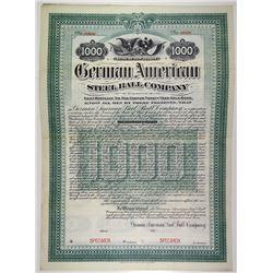 German American Steel Ball Co. 1904 Specimen Bond