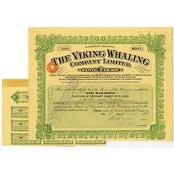 Viking Whaling Company Limited, 1938 I/U Share Certificate.