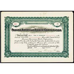 Panama American Timber Corp. 1917 Stock Certificate