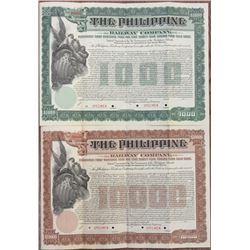Philippine Railway Co. 1907 Specimen Bond Pair Rarities