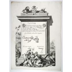 Real Compania de Filipinas, 1785 Issued Stock Certificate