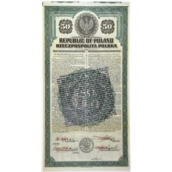 Republic of Poland, 1920 Specimen Bond