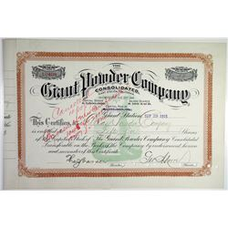 Giant Powder Co. Consolidated 1915 Stock Certificate