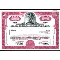 Atlas Chemical Industries, 1960-70's Specimen Stock Certificate.