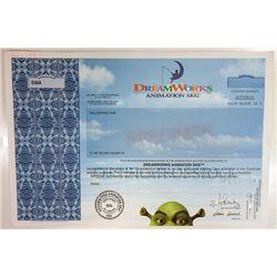 DreamWorks Animation SKG, 2004 Specimen Stock Certificate.