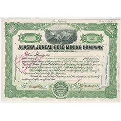 Alaska Juneau Gold Mining Co., 1952 Proof Stock Certificate