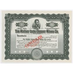 Mother Lode Copper Mines Co. of Alaska, 1910-1920 Specimen Stock Certificate