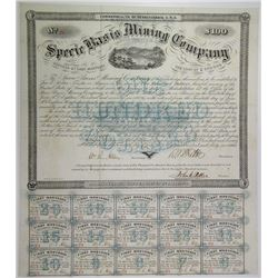 Specie Basis Mining Co. 1866 Coupon Bond