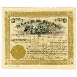 CO. Broken Hill Gold Mining Co. 1897 I/U Stock Certificate, Cripple Creek District