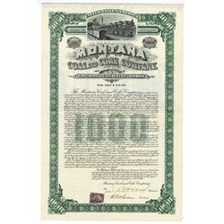 Montana Coal & Coke Co., 1900 $1,000 I/U Gold Bond