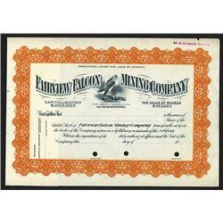 Fairview Falcon Mining Co., ca.1900-1920 Specimen Stock Certificate
