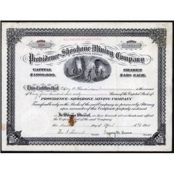 Providence-Shoshone Mining Company of Bull-Frog, Nevada, 1914 I/U Stock Certificate.