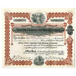 Silver Peak Valcalda Gold Mining Co., 1908 I/U Stock Certificate.