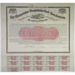 Lackawanna and Susquehanna Coal and Iron Co. 1872 Bond