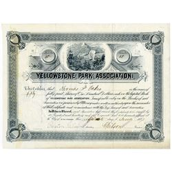 Yellowstone Park Association, 1887 Issued Stock Certificate.