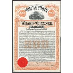 La Porte Wharf and Channel Co, 1899 I/U Bond.