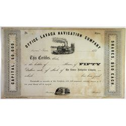 Lavaca Navigation Co. ca. 1850's Stock Certificate