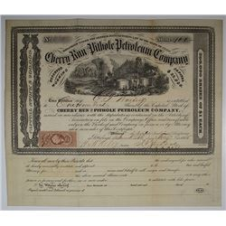 Cherry Run and Pithole Petroleum Co., 1865 I/U Stock Certificate.