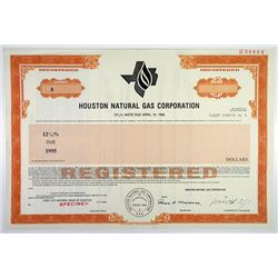 Houston Natural Gas Corp., 1985 Specimen Bond, ENRON Predecessor company with Ken Lay Facsimile Sig.