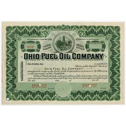 Ohio Fuel Oil Co., ca.1900-20 Specimen Stock Certificate