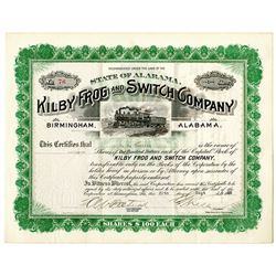 Kilby Frog and Switch Co., 1925 I/U Stock Certificate.