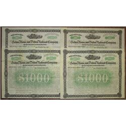 Selma, Rome and Dalton Railroad Co., 1867 I/U Bond Group of 4 Pieces.