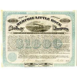 Memphis and Little Rock Railway Co., 1873 I/U Bond.