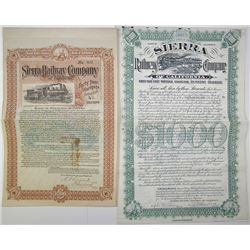 Sierra Railway Co. of California 1897 & 1904 Bond Pair