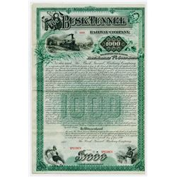 Busk Tunnel Railway Co.,1890 Specimen Bond.