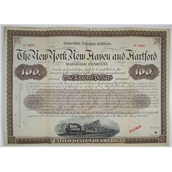 New York, New Haven and Hartford Railroad Co., 1895 Specimen Bond Rarity